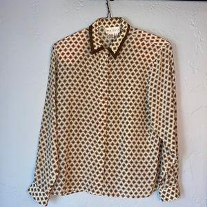 Vintage Meridian women's silk blouse